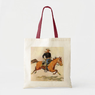 Vintage Military, A Cavalry Officer by Remington Tote Bag