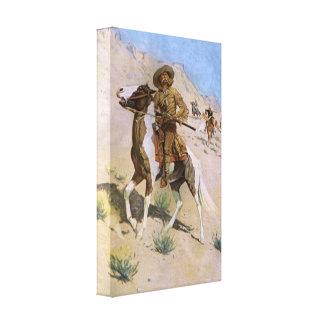 Vintage Military Cowboys, The Scout by Remington Canvas Print