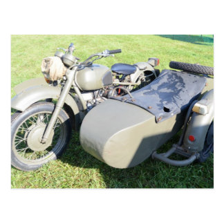 Vintage Military Motorcycle Combination Postcard