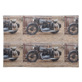 Vintage Military Motorcycle Place Mats