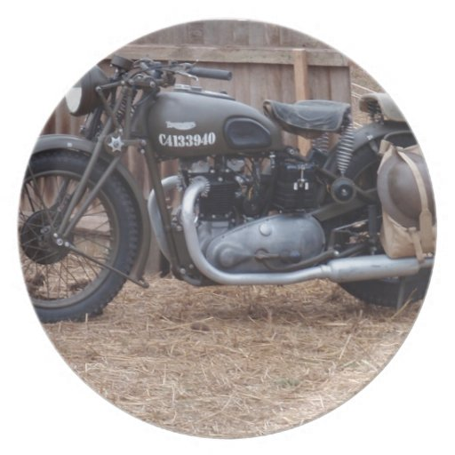 Vintage Military Motorcycle Party Plates