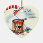 Vintage Military Valentine Ornament