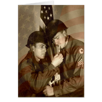 Vintage Military WWII Photo -Veterans Day Greeting Greeting Card