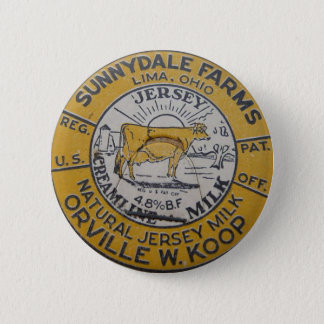 Vintage Milk Bottle Cap Lima Ohio Dairy Sunnydale 6 Cm Round Badge