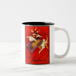 Vintage Milka Chocolate Ad Two-Tone Coffee Mug