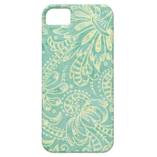 Vintage Mint Floral iPhone 5 5S iPhone 5/5S Cases