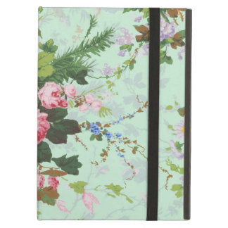 Vintage mint shabby floral chic roses rose flowers iPad air case