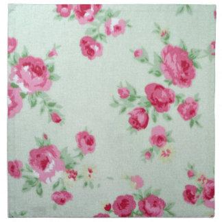 Vintage Minty Rose Napkin