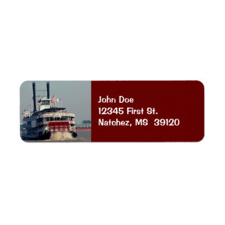 Vintage Mississippi Riverboat Return Address Label