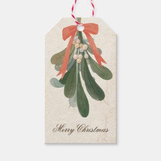 Vintage Mistletoe Holiday Gift Tags