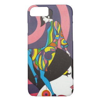 Vintage Mod 1960s Psychedelic iPhone 7 Case