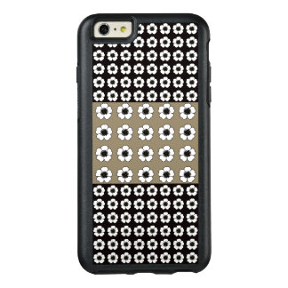 Vintage-Mod_Petunia's(c) Taupe_Black_White OtterBox iPhone 6/6s Plus Case