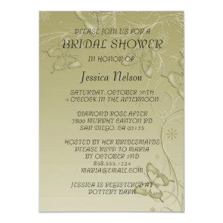 Vintage Modern Butterfly Bridal Shower Invitation Personalized Invitation