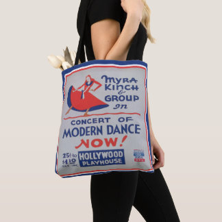 Vintage Modern Dance Advertisement Print Tote