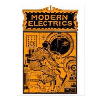 Vintage Modern Electrics Magazine Cover Postcard