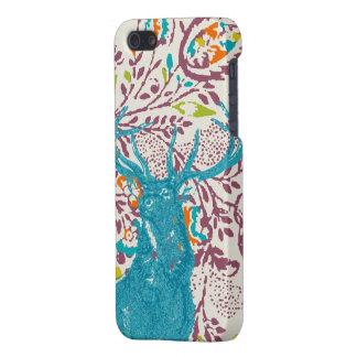 Vintage Modern Floral Deer Plum Aqua Coral iPhone 5/5S Covers