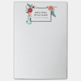 Vintage Modern Floral Motif Post-it® Notes