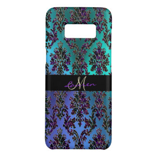Vintage Modern Glam Metallic Damask Monogram Case-Mate Samsung Galaxy S8 Case