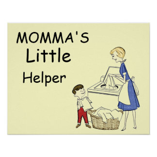 Vintage Momma's Little Helper Poster