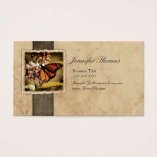 Vintage Monarch Butterfly Business Card