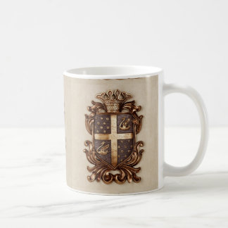 VINTAGE MONARCHY COAT OF ARMS COFFEE MUG