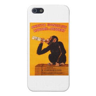 Vintage Monkey Anisetta Evangelisti Liquor Poster Case For iPhone 5/5S