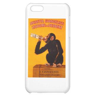 Vintage Monkey Anisetta Evangelisti Liquor Poster Case For iPhone 5C