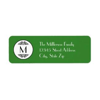Vintage Monogram - Address Label