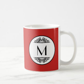 Vintage Monogram Red - Mug