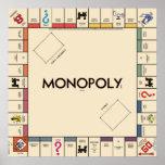 Vintage Monopoly Game Board Print