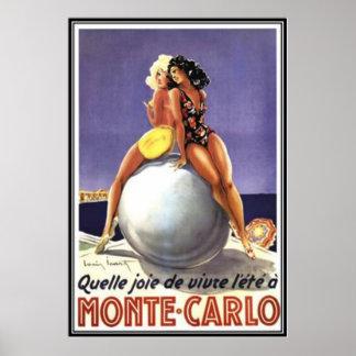 Vintage Monte-Carlo, Monaco  - Poster