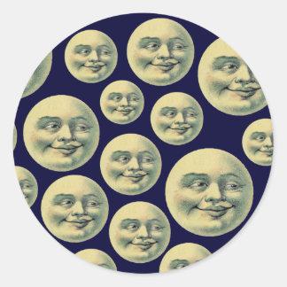 Vintage Moons Round Sticker
