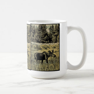 Vintage Moose Coffee Mug