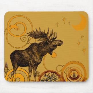 Vintage Moose Gifts Mouse Mat