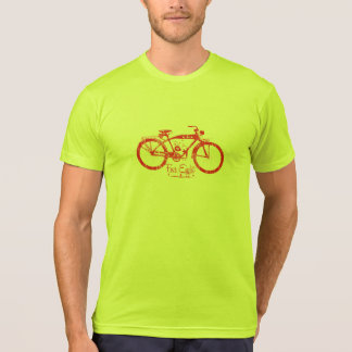Vintage Moped Red T-Shirt