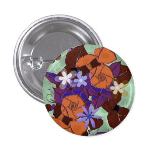 Vintage Morning Glory flowers Buttons