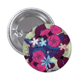 Vintage Morning Glory flowers Pinback Button
