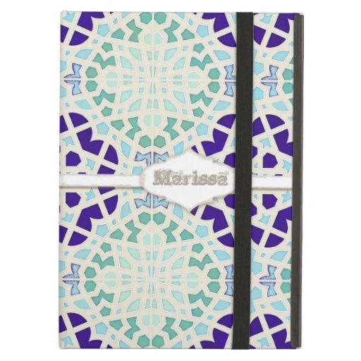 Vintage Moroccan Tile Abstract Pattern Modern Art iPad Case