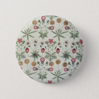 Vintage Morris Daisy Wallpaper Design 6 Cm Round Badge
