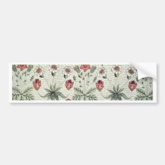 Vintage Morris Daisy Wallpaper Design Bumper Sticker