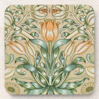 Vintage Morris Floral Square Cork Coaster