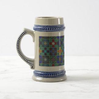 Vintage mosaic talavera ornament beer stein
