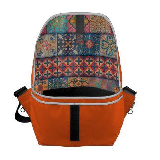 Vintage mosaic talavera ornament commuter bag