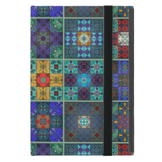 Vintage mosaic talavera ornament cover for iPad mini