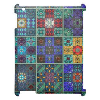 Vintage mosaic talavera ornament cover for the iPad