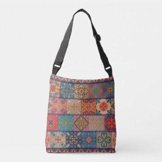 Vintage mosaic talavera ornament crossbody bag