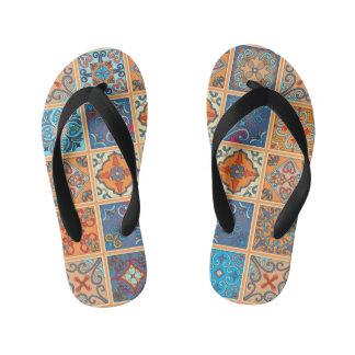 Vintage mosaic talavera ornament kid's thongs