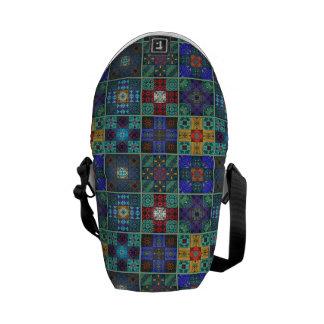 Vintage mosaic talavera ornament messenger bags