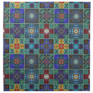 Vintage mosaic talavera ornament napkin