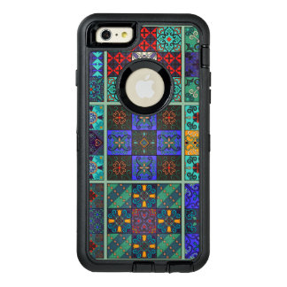 Vintage mosaic talavera ornament OtterBox defender iPhone case